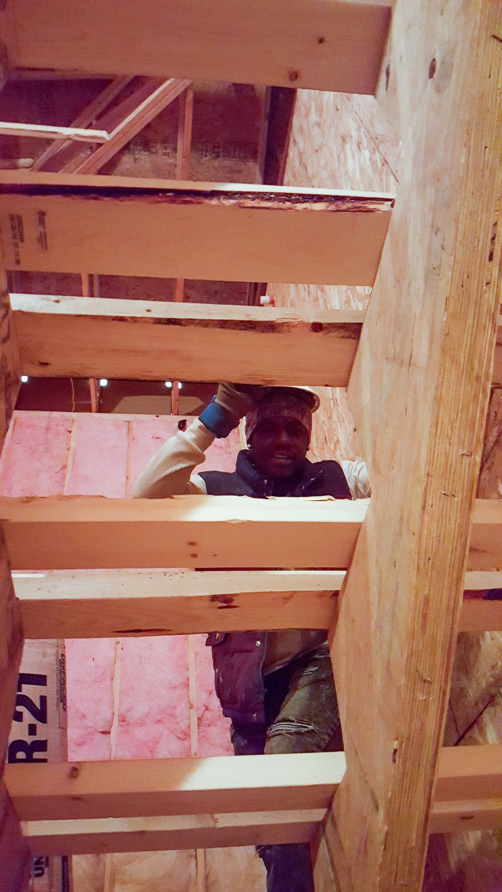 Insulation in 608 Stairs