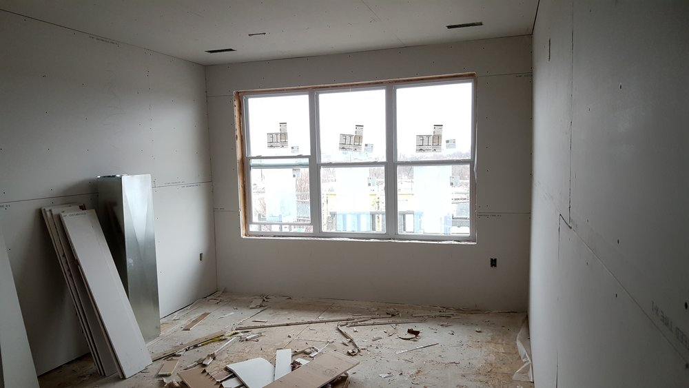 Drywalled Bedroom