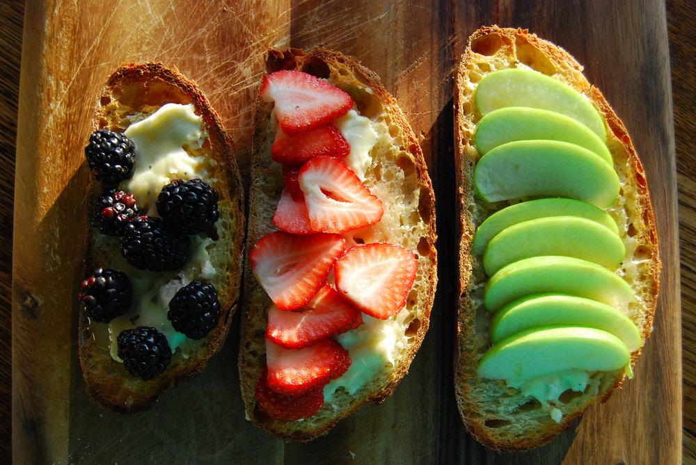 Cheese, Fruit and Honey Bruschetta | Front Range Fed