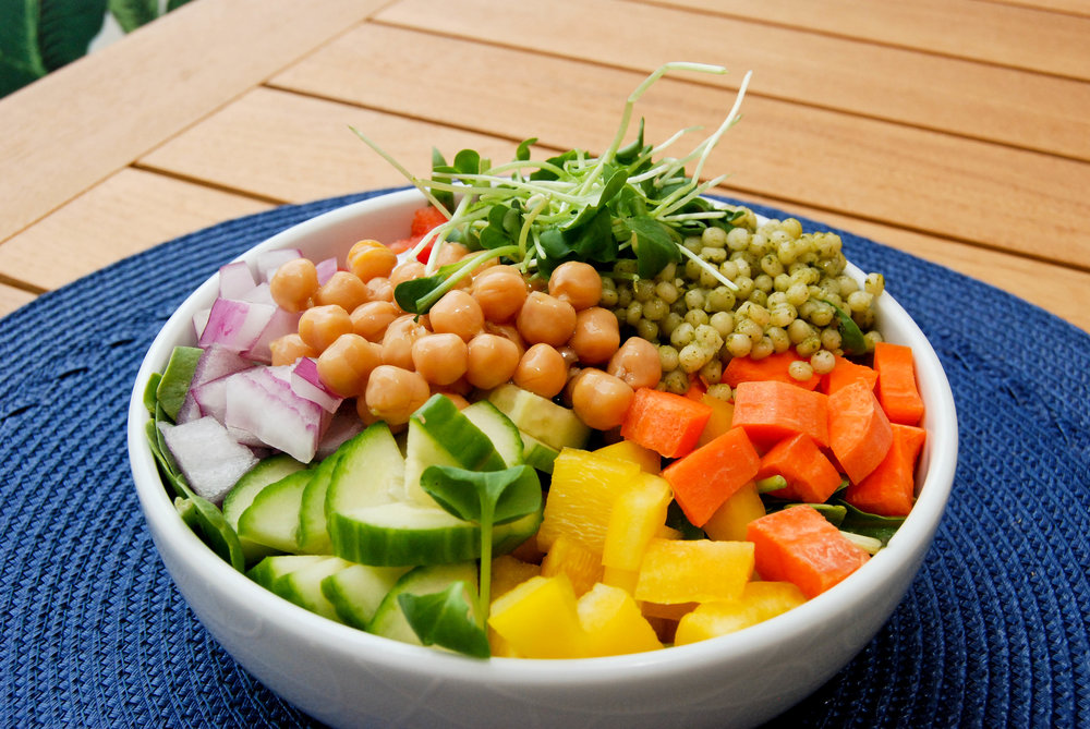 Chickpea And Veggie Salad With Dill Dressing | Front Range Fed