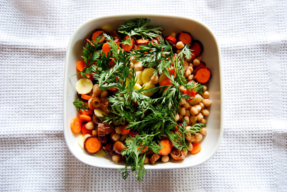 Carrot, Date, and Chickpea Salad