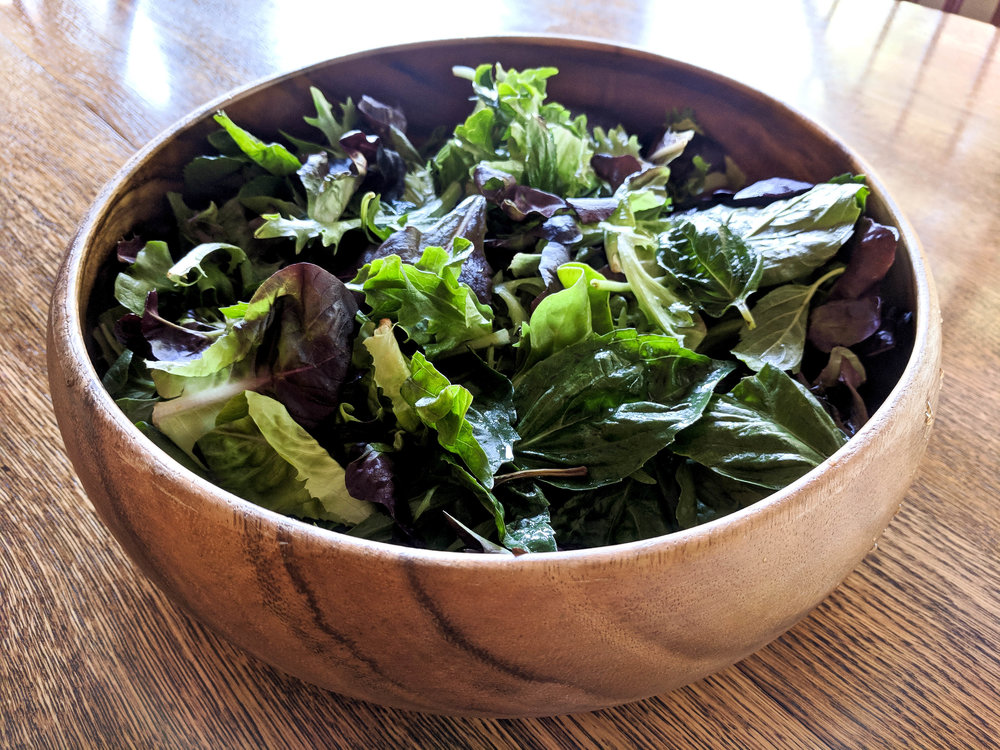 Spring Mix and Basil