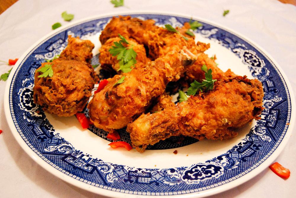 Spicy Fried Chicken Drumsticks