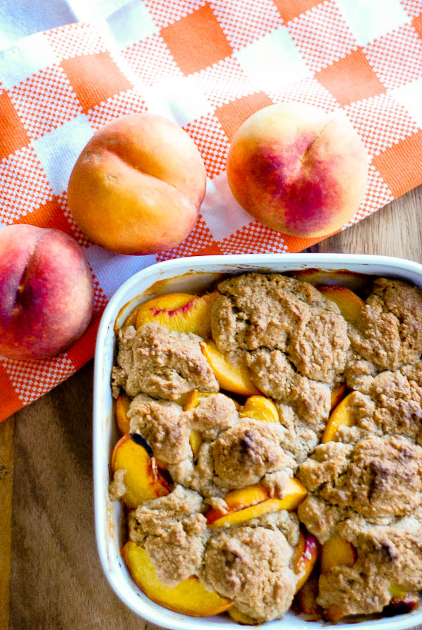 Easy Delicious End Of Summer Peach Cobbler