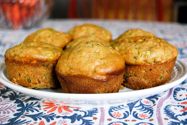 Healthy Carrot And Zucchini Muffins