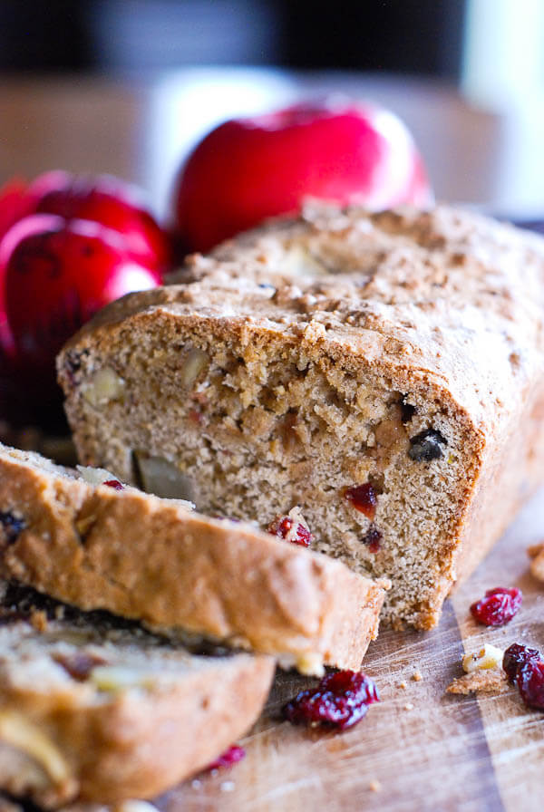 Easy Apple Cranberry And Walnut Quick Bread