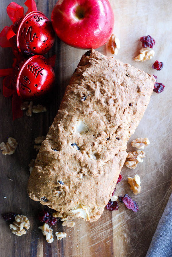 Apple Cranberry And Walnut Quick Bread