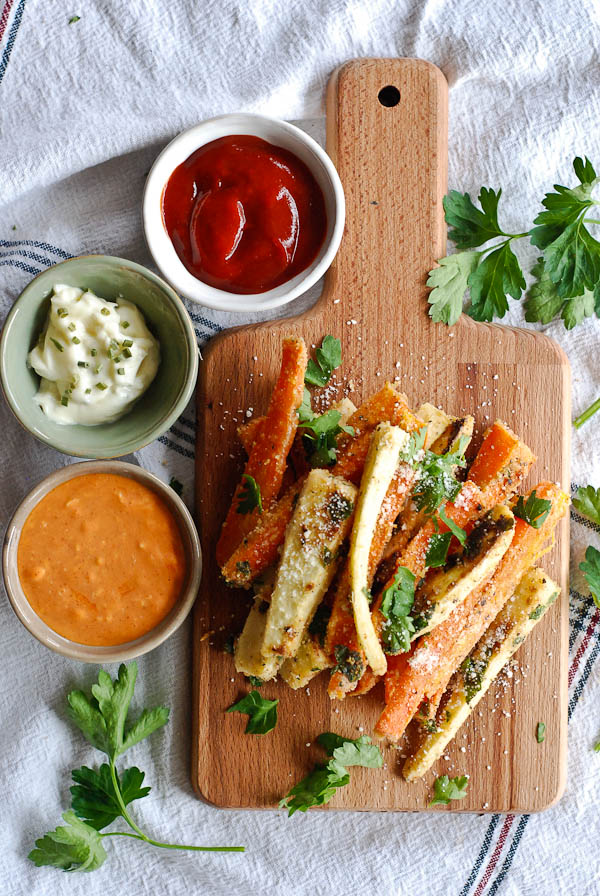 Oven Baked Parmesan Carrot And Parsnip Fries