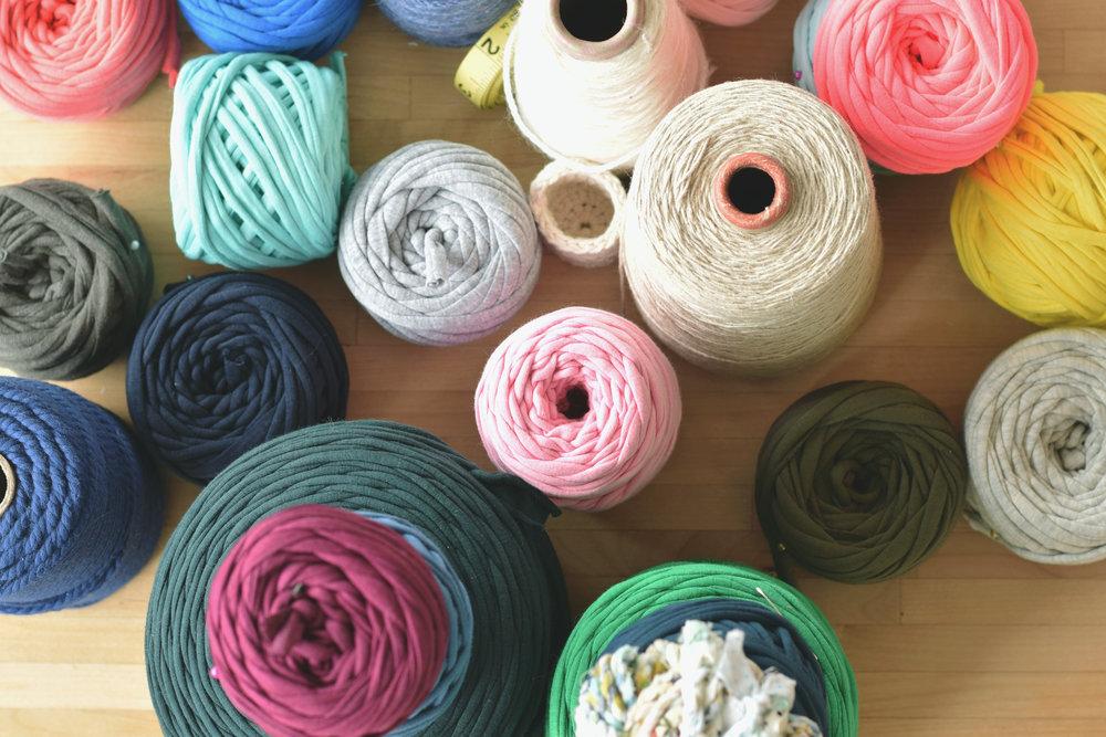 T-shirt yarn abound