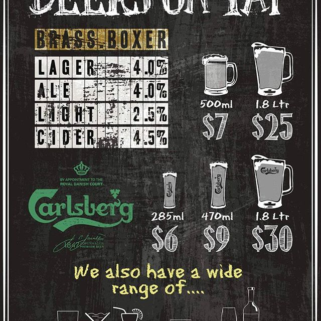Thirsty ? Here we go fresh beer on Tap all day