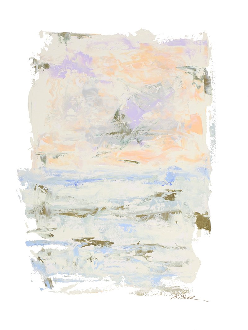 """LANDSCAPE VII, 30"""" X 22"""", OIL ON PAPER"""