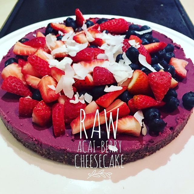 "RAW ACAI-BERRY CHEESECAKE! Order now for Christmas Day ❤🍓 4 x Mini 4"" Raw Cheesecakes - $15ea. Free delivery on Christmas Eve for Karratha Residents. Pick up also available."