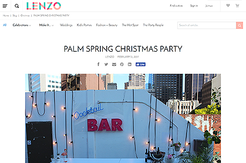 Party with Lenzo Palm Springs Christmas Party