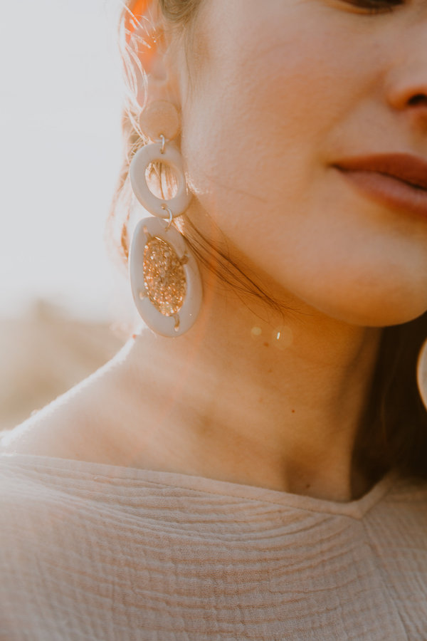 Yume Woven Hoop Earrings