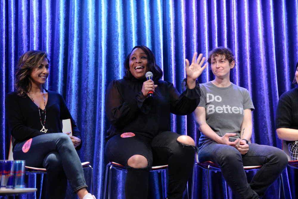 - Tina Davis - VP of A&R @ EMPIREFadia Kader - Music Partnerships @ InstagramMaryam Hasnaa - Energy Healer + TeacherDana Meyerson - Partner @ BIZ 3 PublicityElisha Greenwell - Brand Strategy Dir. + Founder/CEO @ Black Joy ParadeD'Ana Nunez - Founder @ ItsCovl
