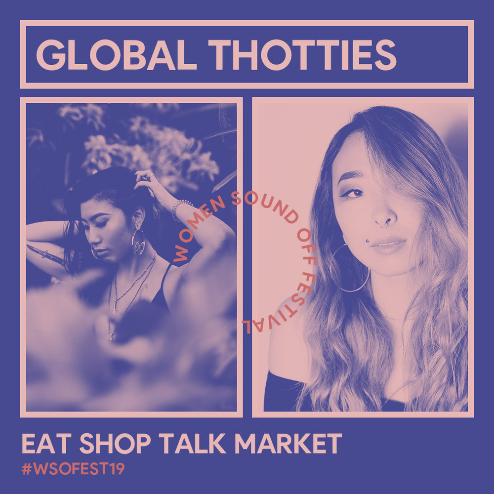 Global Thotties - Arumi   Lil WaifuA community of femmes for femmes in a toxic masculine industry. Global thotties strive to provide a safe space for femmes to express themselves freely no matter how risqué it might be. Pioneered by bay area music creatives Arumi and Lil Waifu, the name was born before their first b2b gig where they sought to play underrated world club selections while strapped in harnesses: a true b2bdsm. They expanded the idea into their community and turned it into a movement to empower other femmes to do whatever the fuck they want.