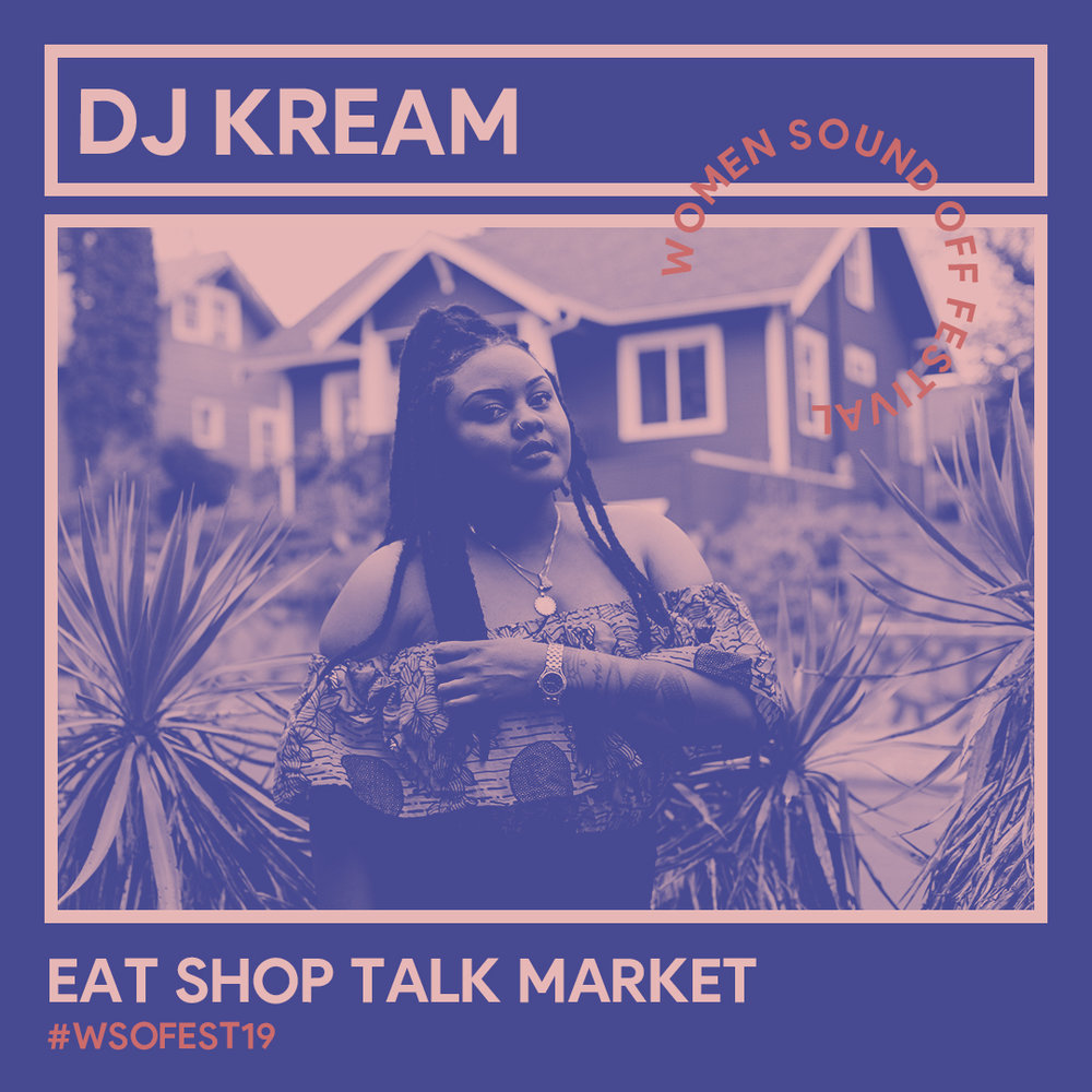DJ Kream - Bijou McDaniel is an Oakland native who is making a name for herself in the local scene with her signature genre mixing DJ style. After attending The Academy of Art in San Francisco and working various jobs from Visual Merchandiser to Non-profit Development Fundraiser, Bijou acted on one of her life-long passions and turned it into art form never looking back. Since her debut as DJ Kream, Bijou has curated grooves at nightclubs, art receptions, day parties, and corporate events.