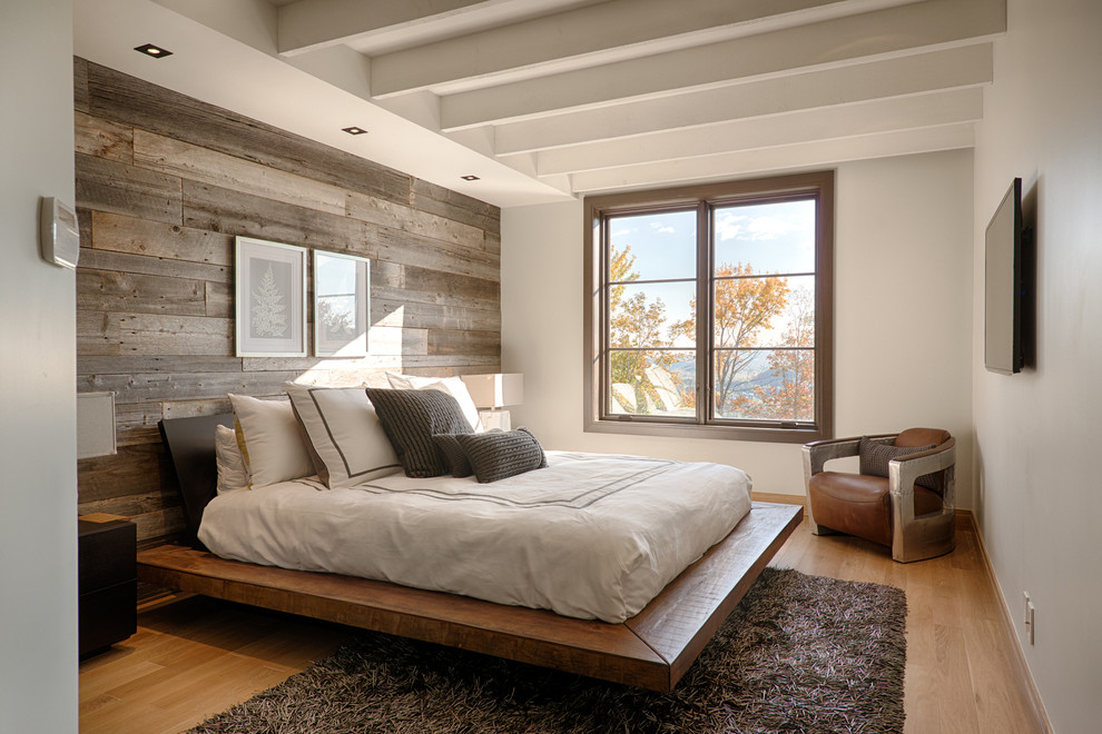 Bedroom-with-wallpaper-accent-wall-bedroom-rustic-with-framed-artwork-wall-mounted-tv-10.jpg