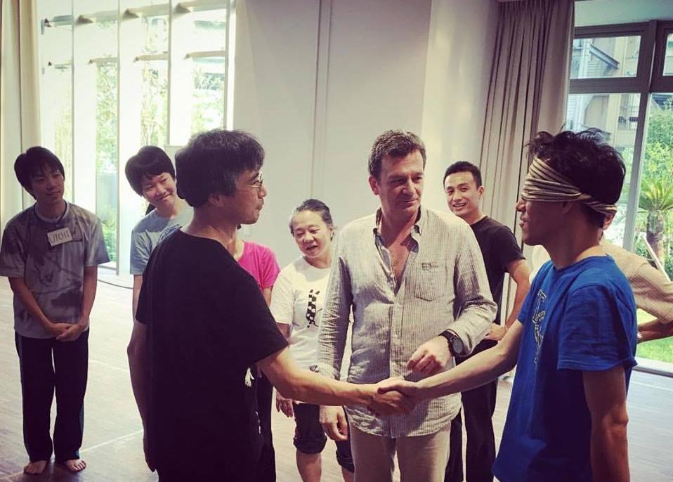 Aleksey Burago teaching acting students in Osaka, Japan (2016)