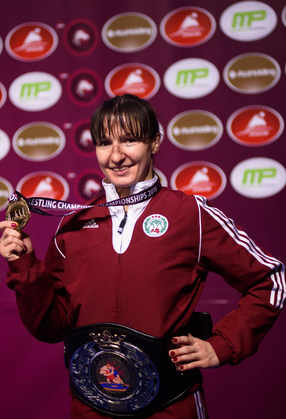 08.03.2016. Anastasija Grigorjeva kļūst par Četrkārtēju Eiropas čempioni. Eiropas Čempionāts Brīvajā cīņā. Arēna Rīga.