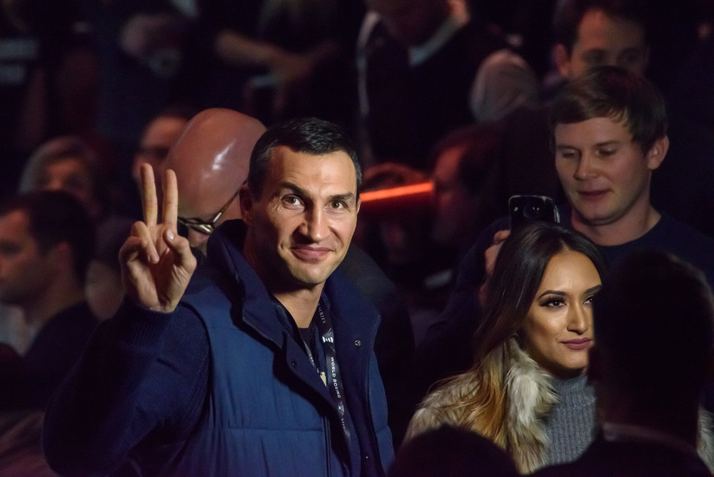 28.01.2018. RIGA,LATVIA. Wladimir Klitschko before World Boxing Super Series semi final fight between Mairis Briedis and Oleksandr Usyk. Arena