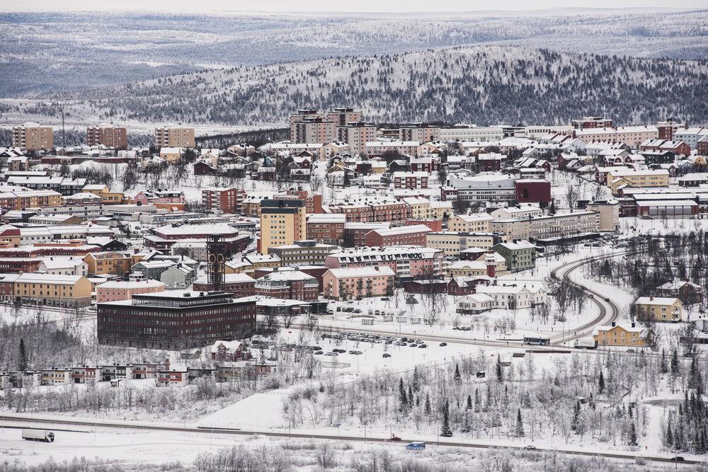 09.11.2016. LKAB uzņēmuma dzelzs rūdas raktuves. Kiruna, Zviedrija.