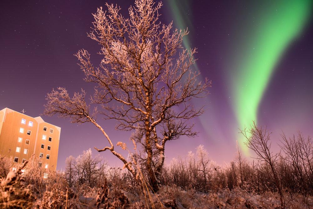 10.11.2016. Ziemeļblāzma. Kiruna, Zviedrija.