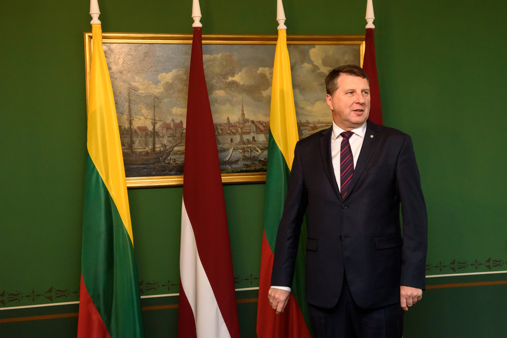 19.02.2018. RIGA, LATVIA. President of Republic of Latvia Raimonds Vejonis meeting with H.E. Speaker of the Seimas of the Republic of Lithuania Viktor Pranckietis