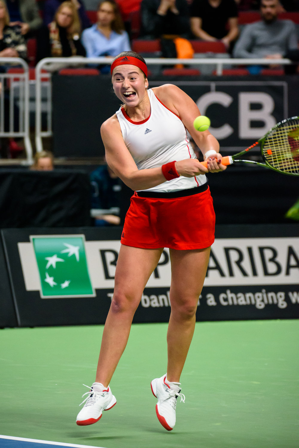 09.02.2019. RIGA, LATVIA.  FEDCUP BNP Paribas, The World Cup of Tennis World Group II First Round game between team Latvia and team Slovakia at Arena Riga.