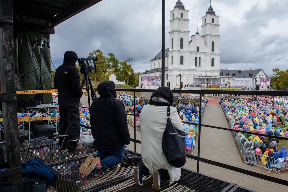 24.09.2018. AGLONA, LATVIA. His Holiness Pope Francis, during Holy Mass at Aglona Basilica. Pāvests Francisks, Svētās Mises laikā Aglonā.