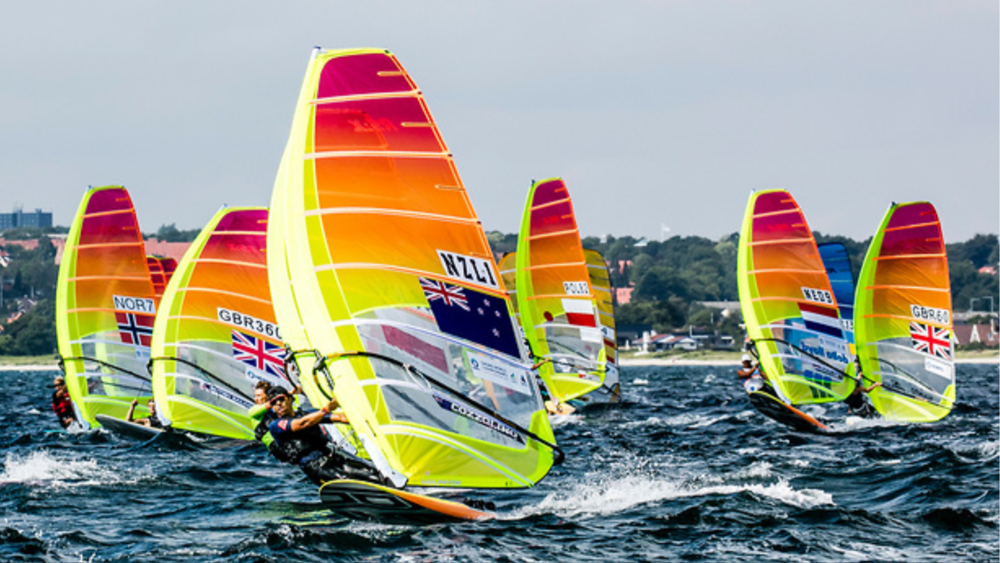 Off the start line during day two of the Test Event in Aarhus, Denmark
