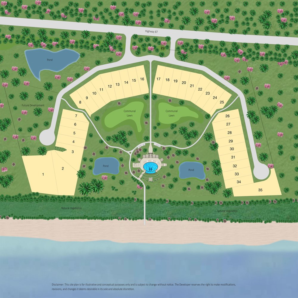 Site Plan of Seagrass Beach - Texas' Newest Luxury Beachfront Community on the Gulf Coast