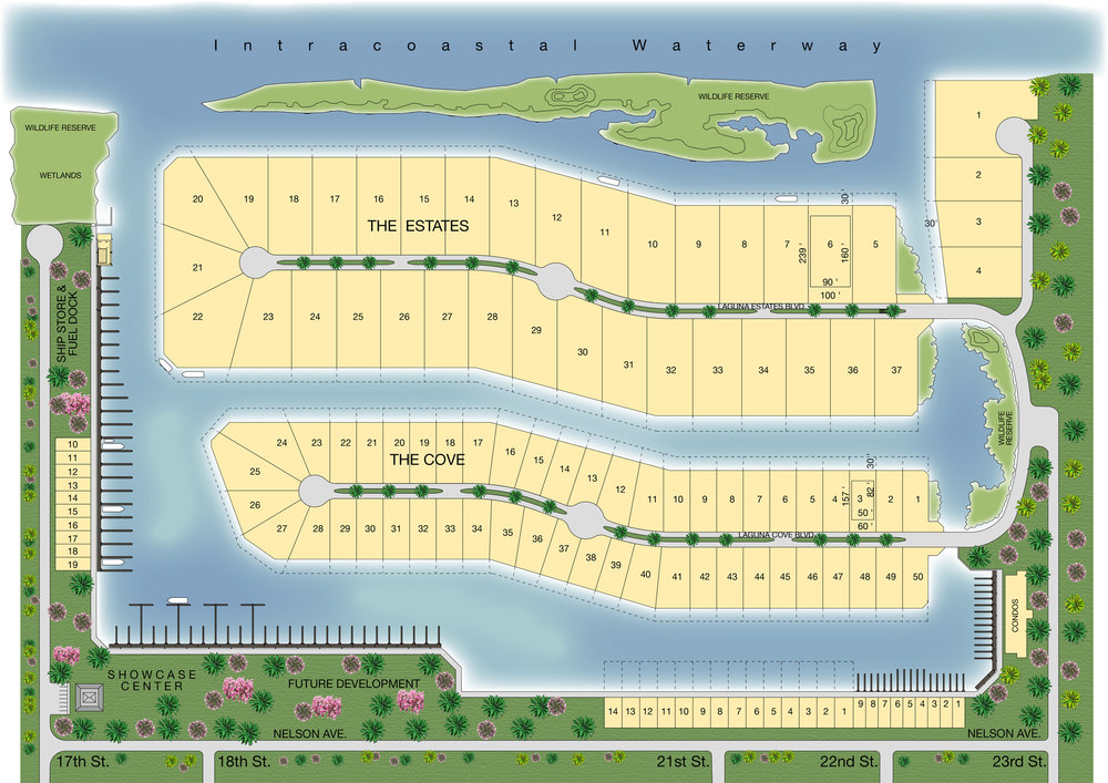 Site Plan of Laguna Harbor - Premier Waterfront Community on Galveston Bay with Immediate Access to the Gulf of Mexico