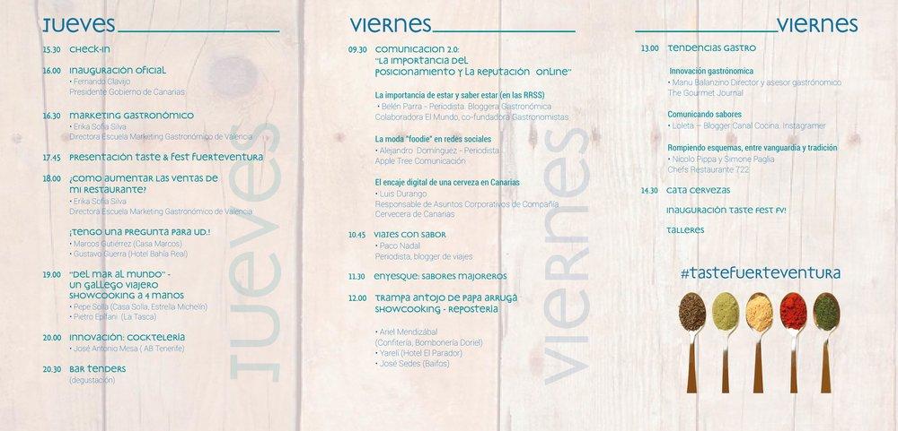 Programa Taste Fuerteventura - Para descargarte el programa pincha aquí.