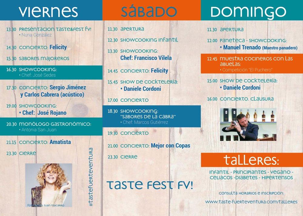 Programa Fest Fuerteventura - Para descargarte el programa pincha aquí.
