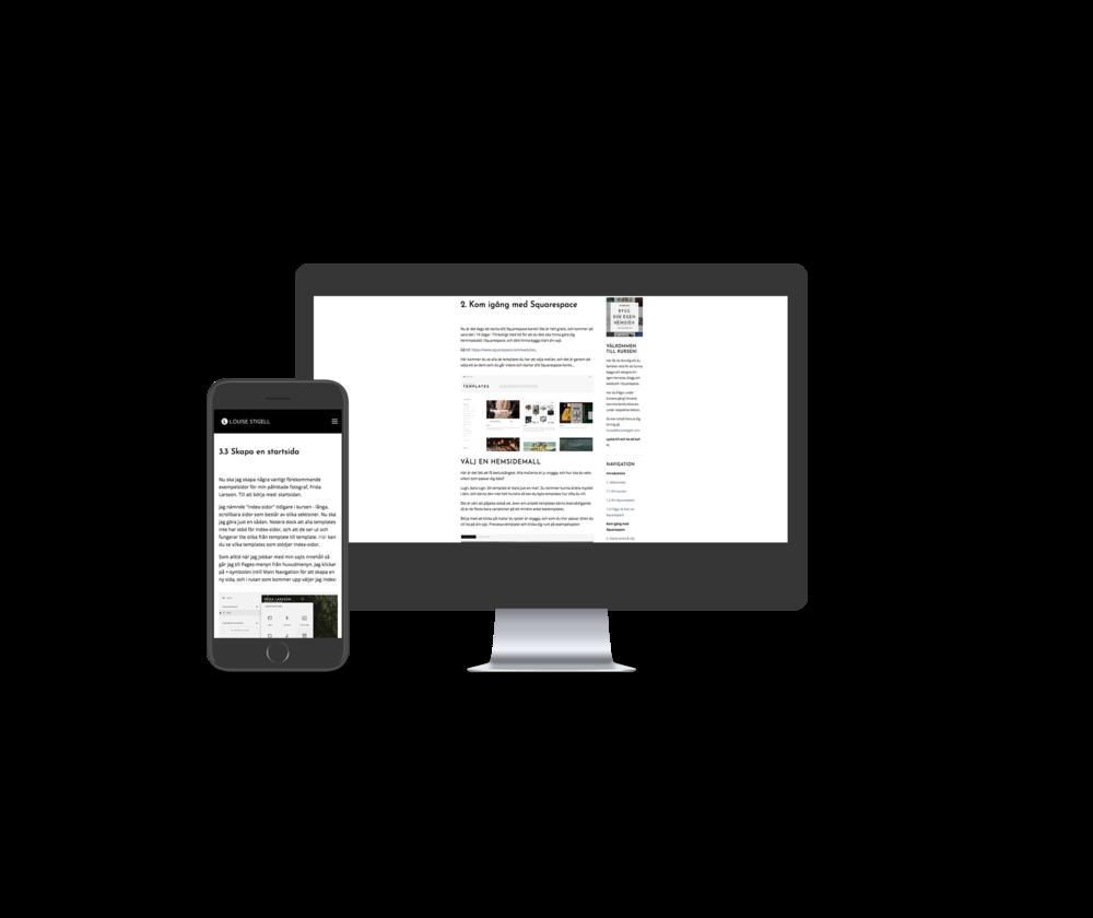Webbkurs guide bygga hemsida squarespace