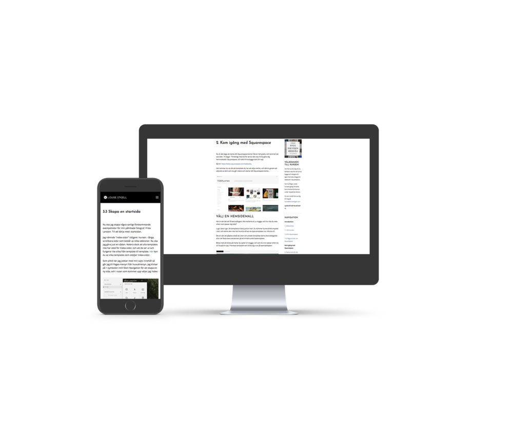 Webbkurs bygg hemsida squarespace