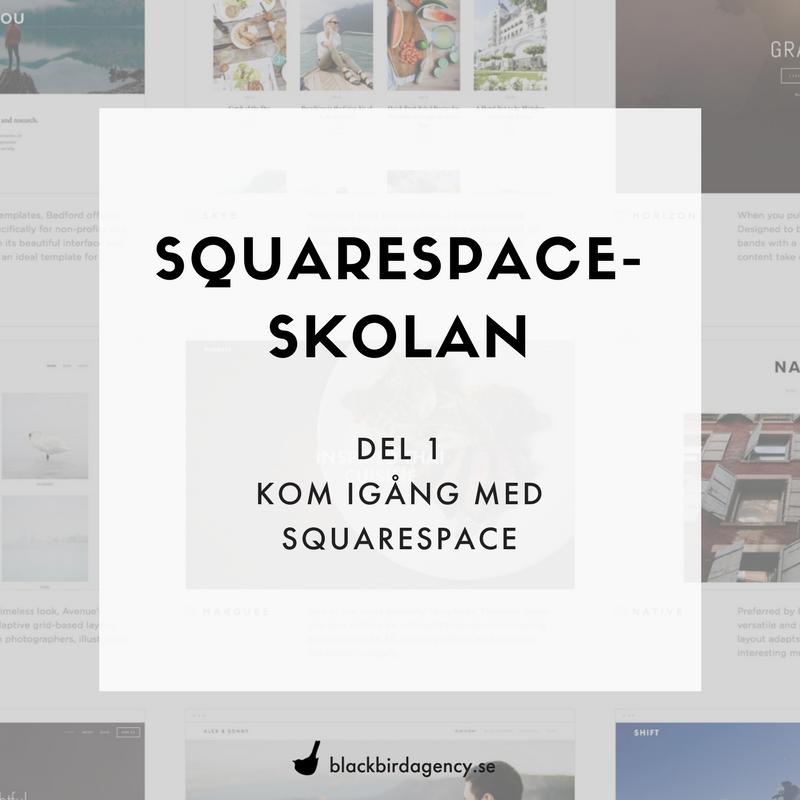 Squaresquare-skolan del 2 Kom igång med Squarespace