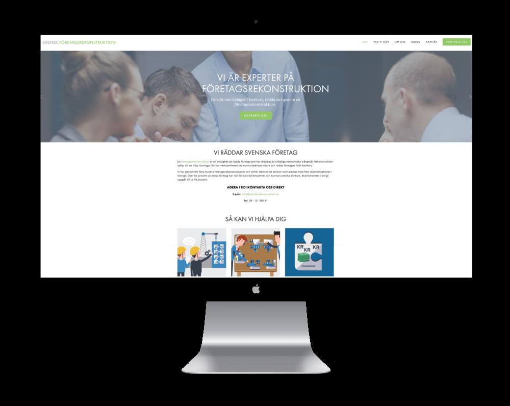 Svensk Företagsrekonstruktion hemsida