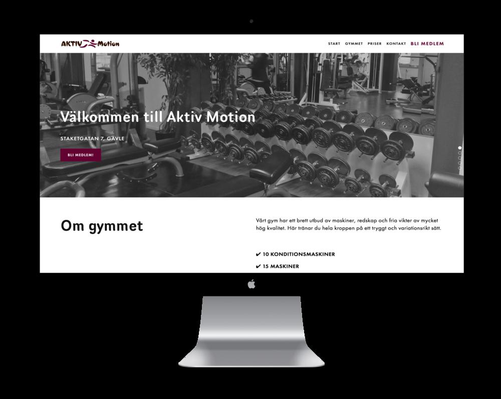 Aktiv Motion gym hemsida