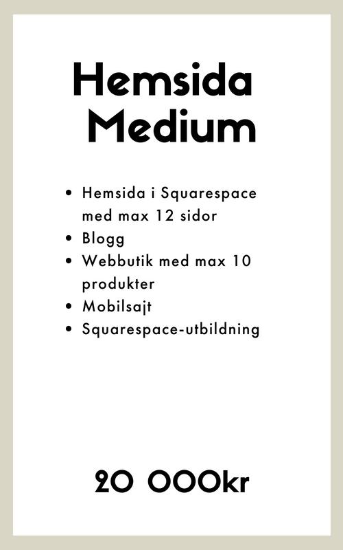 Webbdesigner köpa hemsida e-handel squarespace