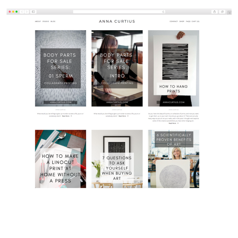 Content writing for Anna Curtius
