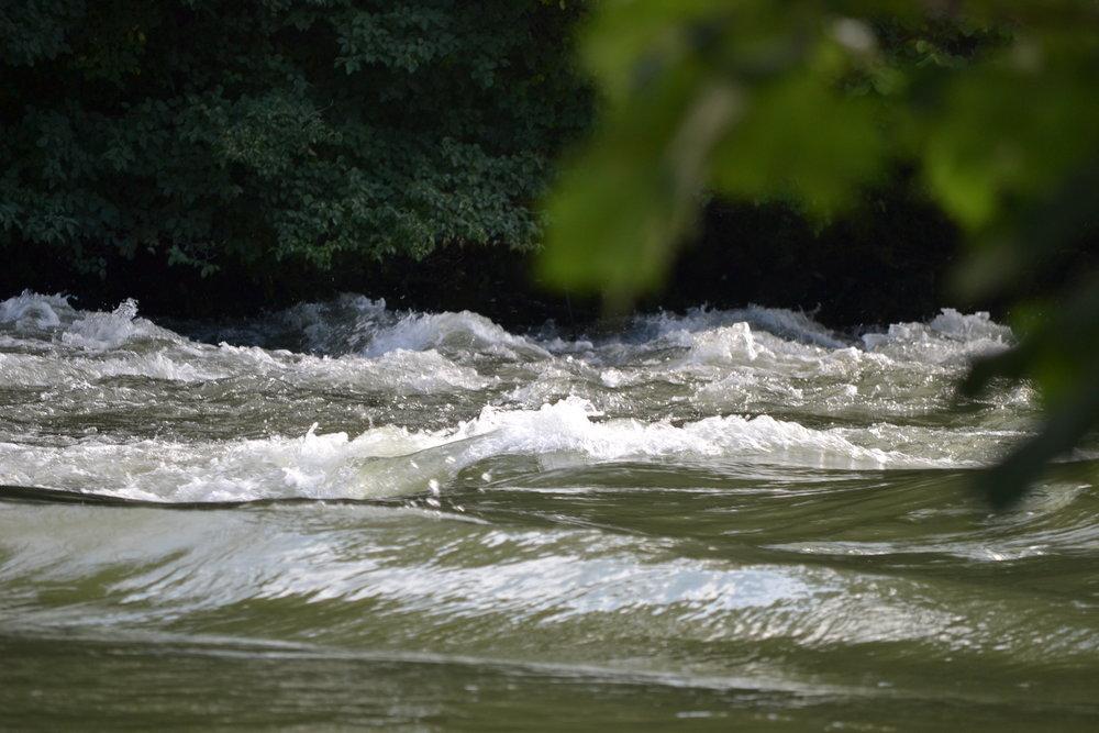 Mal ruhig und entspannt und dann wieder aufgeregt und wild fließt die Amper durch den Landkreis Fürstenfeldbruck.