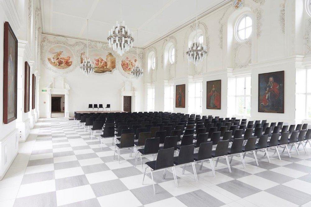 Ein Prunkstück des Kloster Fürstenfeld ist der renovierte Kurfürstensaal.