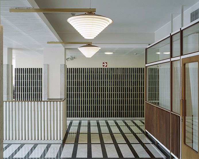 Alvar Aalto's National Pensions Institute, Helsinki. Completed in 1952.