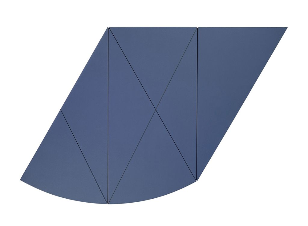 Robert Mangold (b. 1937)  X Series Central Diagonal I (Blue) 1968  Acrylic and graphite on masonite  48 x 72 in. (122 x 183 cm.)