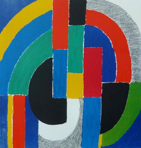 Sonia Delaunay   Lamelles, ca. 1970
