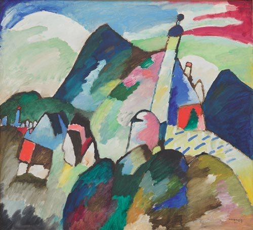 Wassily Kandinsky - Murnau with a Church II, 1910