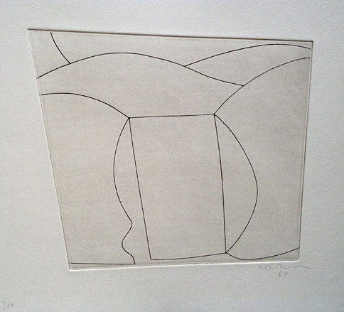 Ben Nicholson - Three Forms in a Landscape, 1968