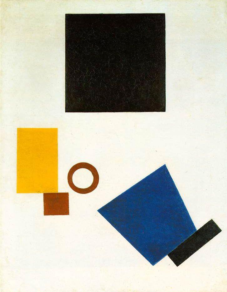 Kazimir Malevich,  Self Portrait in Two Dimensions  - 1915